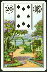 Park (Zahrada) - Karta Lenormand