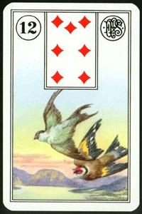 Ptáci - Karta Lenormand