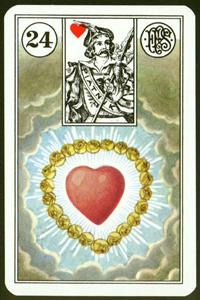 Srdce - Karta Lenormand
