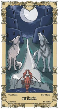 Měsíc Tarot karta