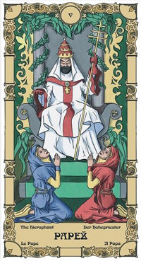 Papež Tarot karta