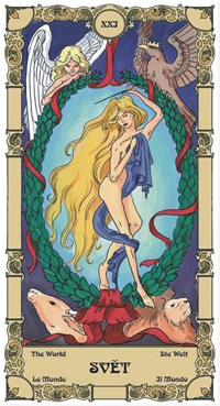 Svět Tarot karta