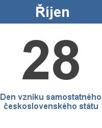 Státní svátek 28.10. - Den vzniku samostatného československého státu